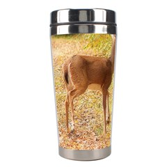 Deer In Nature Stainless Steel Travel Tumbler by uniquedesignsbycassie