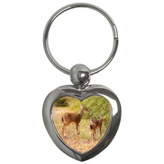Deer In Nature Key Chain (heart) by uniquedesignsbycassie