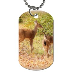 Deer In Nature Dog Tag (one Sided)