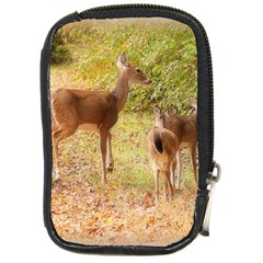 Deer In Nature Compact Camera Leather Case by uniquedesignsbycassie