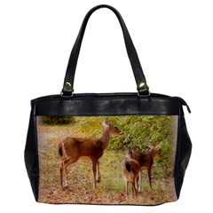Deer In Nature Oversize Office Handbag (one Side) by uniquedesignsbycassie