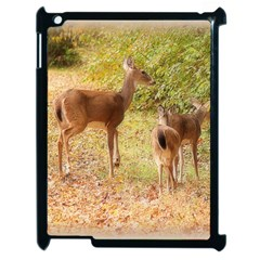 Deer in Nature Apple iPad 2 Case (Black) by uniquedesignsbycassie