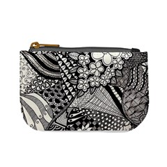 Zentangle Hanne By Anker Willer   Mini Coin Purse   9gy2zm3iu3r7   Www Artscow Com Front