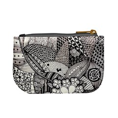 Zentangle Hanne By Anker Willer   Mini Coin Purse   9gy2zm3iu3r7   Www Artscow Com Back