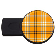 Tartan 17 4gb Usb Flash Drive (round) by chivieridesigns