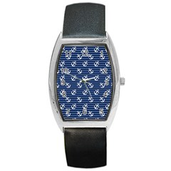 Boat Anchors Tonneau Leather Watch by StuffOrSomething
