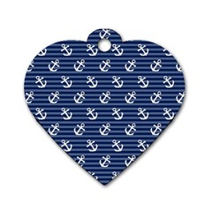 Boat Anchors Dog Tag Heart (one Sided)  by StuffOrSomething