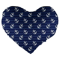 Boat Anchors 19  Premium Heart Shape Cushion by StuffOrSomething