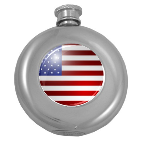 Usa By Divad Brown   Hip Flask (5 Oz)   9vtejvgjaq55   Www Artscow Com Front