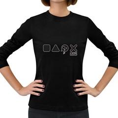 Playcrazy Women s Long Sleeve T Shirt (dark Colored)