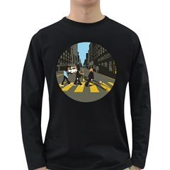 Abbey Road Reloaded Men s Long Sleeve T Shirt (dark Colored)