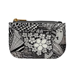 Zentangle Hanne 2 By Anker Willer   Mini Coin Purse   Q02yqaa0nah2   Www Artscow Com Front