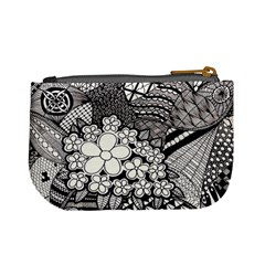 Zentangle Hanne 2 By Anker Willer   Mini Coin Purse   Q02yqaa0nah2   Www Artscow Com Back