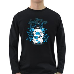 The Lucky Dog Men s Long Sleeve T Shirt (dark Colored)