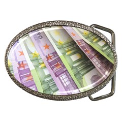 Just Gimme Money Belt Buckle (oval)