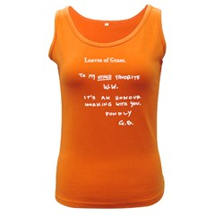 Leaves Of Grass Walter White  Women s Tank Top (dark Colored) by chivieridesigns