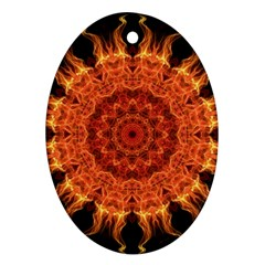 Flaming Sun Oval Ornament by Zandiepants