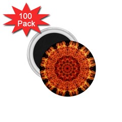 Flaming Sun 1 75  Button Magnet (100 Pack) by Zandiepants