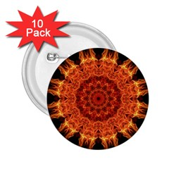 Flaming Sun 2 25  Button (10 Pack) by Zandiepants