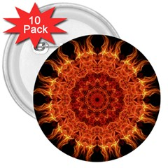 Flaming Sun 3  Button (10 Pack) by Zandiepants