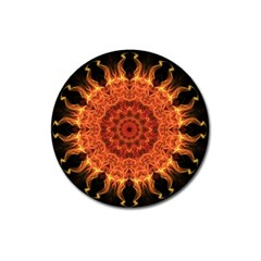 Flaming Sun Magnet 3  (round) by Zandiepants