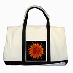 Flaming Sun Two Toned Tote Bag by Zandiepants
