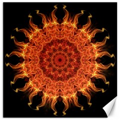 Flaming Sun Canvas 12  X 12  (unframed) by Zandiepants