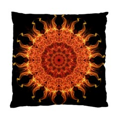 Flaming Sun Cushion Case (two Sided)  by Zandiepants