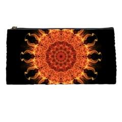 Flaming Sun Pencil Case by Zandiepants