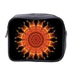 Flaming Sun Mini Travel Toiletry Bag (two Sides) by Zandiepants