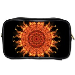 Flaming Sun Travel Toiletry Bag (one Side) by Zandiepants