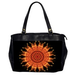 Flaming Sun Oversize Office Handbag (two Sides) by Zandiepants