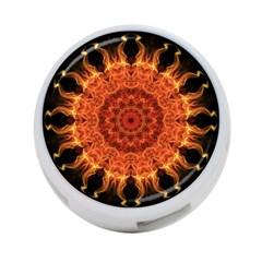 Flaming Sun 4 Port Usb Hub (one Side) by Zandiepants
