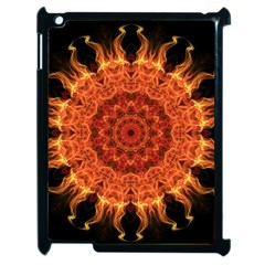 Flaming Sun Apple Ipad 2 Case (black) by Zandiepants
