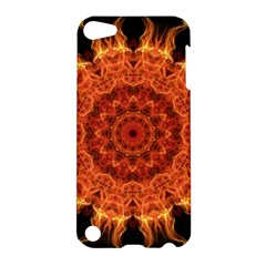 Flaming Sun Apple Ipod Touch 5 Hardshell Case by Zandiepants