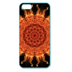 Flaming Sun Apple Seamless Iphone 5 Case (color) by Zandiepants