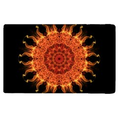 Flaming Sun Apple Ipad 2 Flip Case by Zandiepants