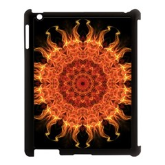 Flaming Sun Apple Ipad 3/4 Case (black) by Zandiepants