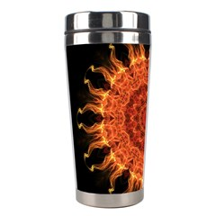 Flaming Sun Stainless Steel Travel Tumbler by Zandiepants