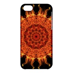 Flaming Sun Apple Iphone 5c Hardshell Case by Zandiepants