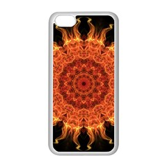 Flaming Sun Apple Iphone 5c Seamless Case (white) by Zandiepants