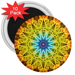 Flower Bouquet 3  Button Magnet (10 Pack) by Zandiepants