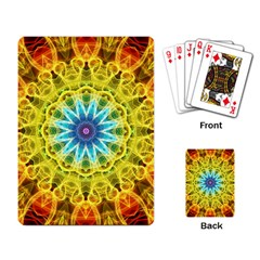 Flower Bouquet Playing Cards Single Design by Zandiepants