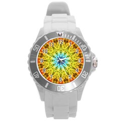 Flower Bouquet Plastic Sport Watch (large) by Zandiepants