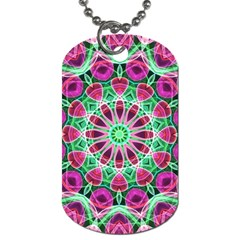 Flower Garden Dog Tag (two Sided)  by Zandiepants