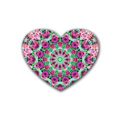 Flower Garden Drink Coasters (heart) by Zandiepants