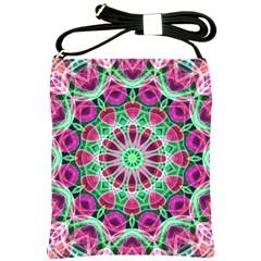 Flower Garden Shoulder Sling Bag by Zandiepants