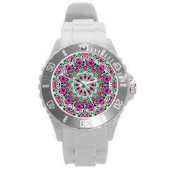 Flower Garden Plastic Sport Watch (large) by Zandiepants