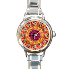 Gemstone Dream Round Italian Charm Watch by Zandiepants