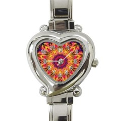 Gemstone Dream Heart Italian Charm Watch  by Zandiepants